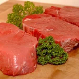 Extra mature fillet steak